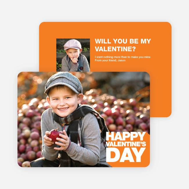 Bold Valentine's Day Cards - Orange