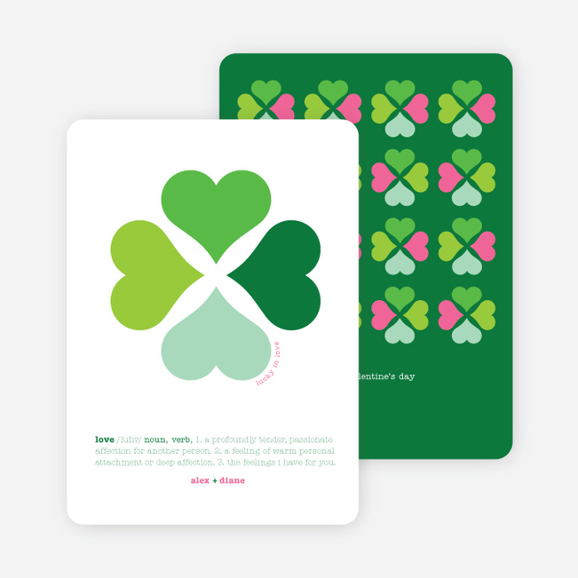 Clover Says: You're Lucky in Love - Forest Green