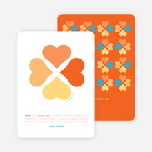 Clover Says: You're Lucky in Love - Carrot Orange
