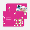 Dangling Hearts Valentines Day Photo Cards - Magenta