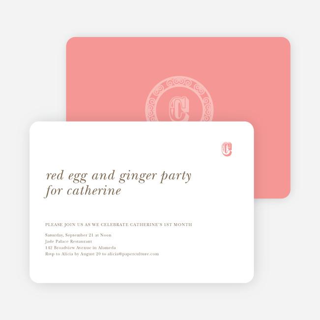 Dragon Woodblock Chop Chinese New Year cards - Pink