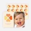 Four Heart Clover for Valentine's Day - Tangerine