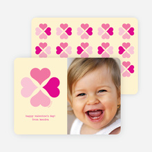 Four Heart Clover for Valentine's Day - Magenta
