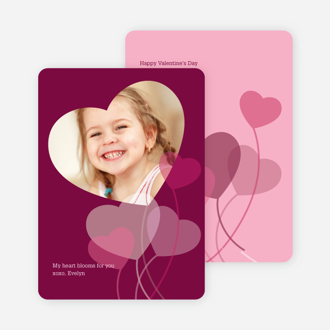Heart Shaped Balloon Cards for Valentine's Day - Lilac