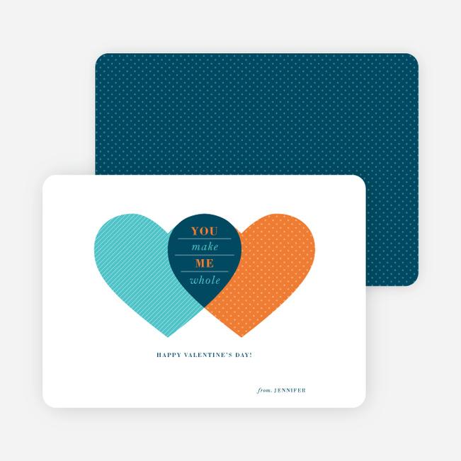 Heart Venn Diagram for Valentine's Day - Blue