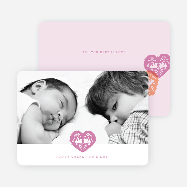 Hearts, Doves and Paper Cutouts for Valentine's Day - Fuchsia