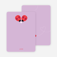 Ladybug Love Personal Stationery - Purple