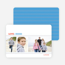 Love and Kisses Valentine's Day Cards - Majestic Blue
