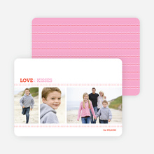 Love and Kisses Valentine's Day Cards - Carnation