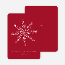 Love Flower Personalized Note Cards - Radiant Red