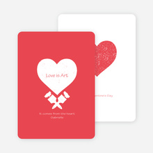 Love is Art Valentine's Day Cards - Red