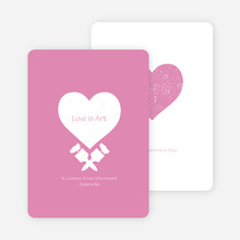 Love is Art Valentine's Day Cards - Pink