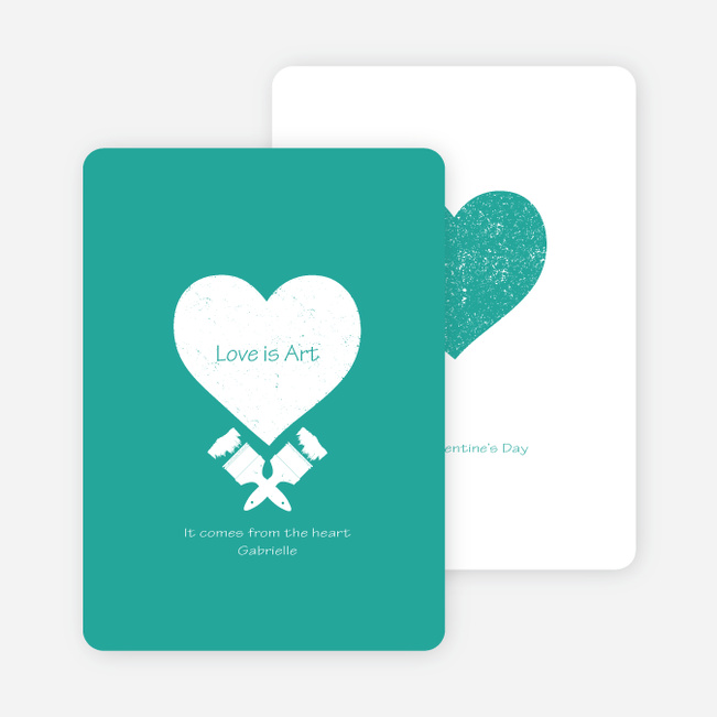 Love is Art Valentine's Day Cards - Blue