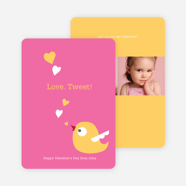 Love Tweet Eco Friendly Photo Cards - Candy Pink