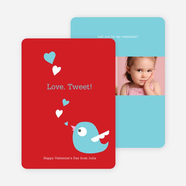Love Tweet Eco Friendly Photo Cards - Robin