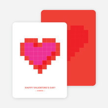 Love You to Bits Geek Valentine's Day Card - Pink