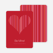 Modern Valentine Heart: Be Mine - Sangria