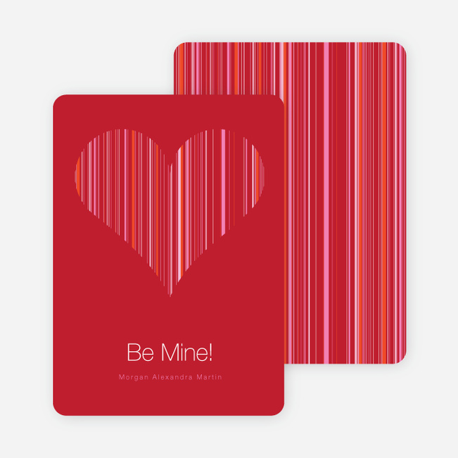 Modern Valentine Heart: Be Mine - Sangria