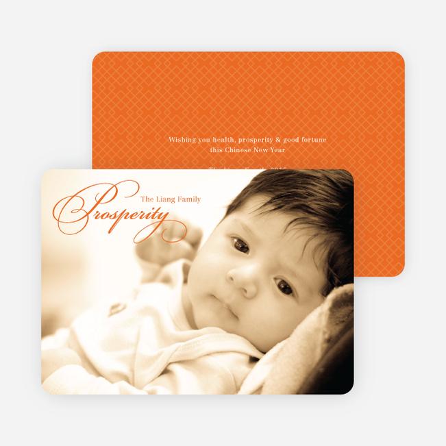 Prosperity Chinese New Year Cards - Orange