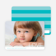 Simple Love Valentine's Day Cards - Turquoise