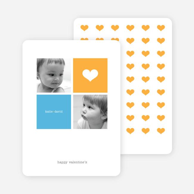 Simply Love Multi Photo Valentine's Day Card - Papaya