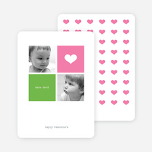 Simply Love Multi Photo Valentine's Day Card - Hot Pink