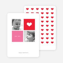 Simply Love Multi Photo Valentine's Day Card - Scarlet