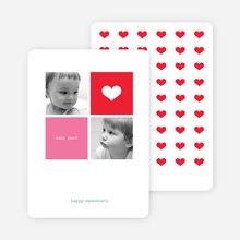 Simply Love Multi Photo Valentine's Day Card - Scarlet