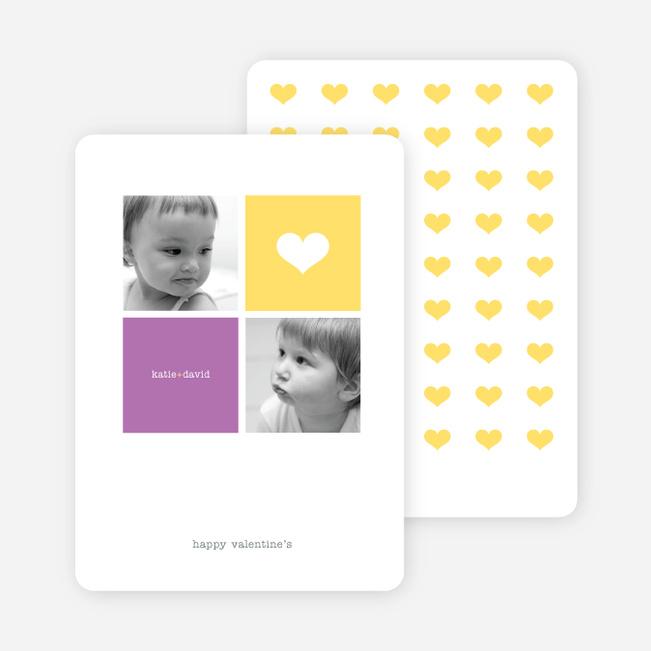 Simply Love Multi Photo Valentine's Day Card - Sun Yellow