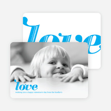 Simply Love: Valentine's Day Photo Cards - Royal Blue