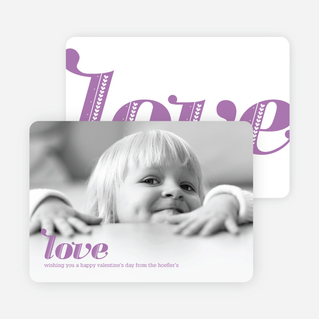 Simply Love: Valentine's Day Photo Cards - Lilac