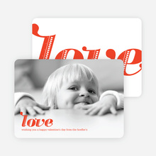 Simply Love: Valentine's Day Photo Cards - Love Red