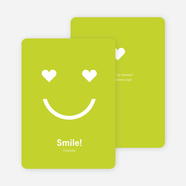 Smiling from the Heart: Valentine's Day Greetings - Chartreuse