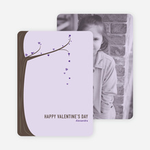 Tree of Love Unique Valentine's Day Cards - Purple