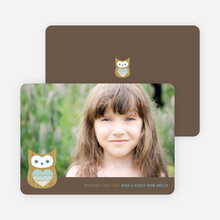 Whooo Loves You Owl Photo Cards - Lagoon