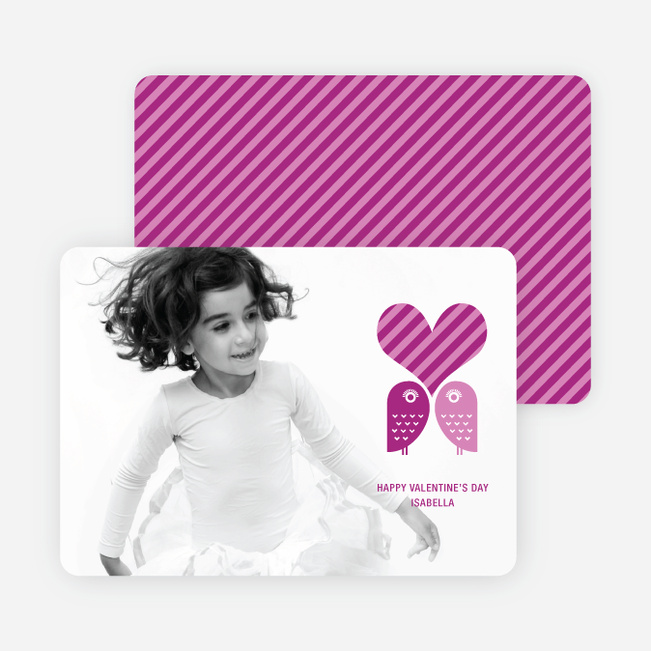 Woo Knows True Love Valentine's Day Cards - Magenta