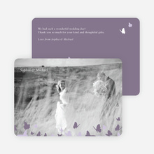 Butterfly Thank You Cards - Black