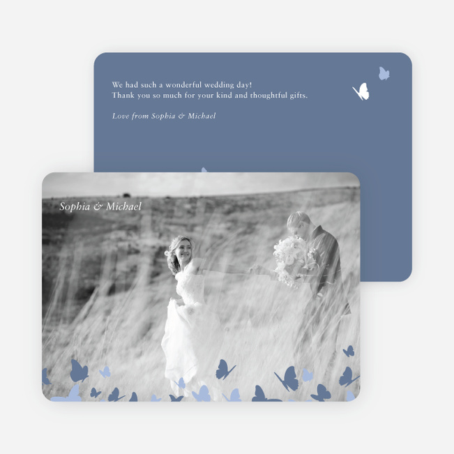 Butterfly Thank You Cards - Blue