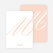 Elegant Letters Personalized Note Cards - Pale Apricot