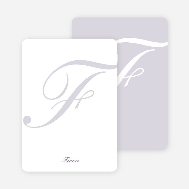 Elegant Letters Personalized Note Cards - Mercury