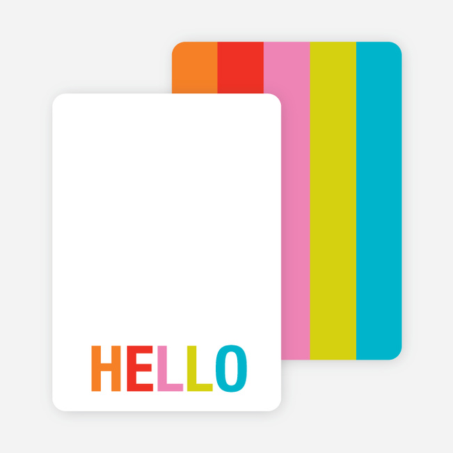 Excitement Series: Hello Note Cards - Tangerine