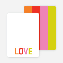 Excitement Series: Love Note Cards - Chartreuse