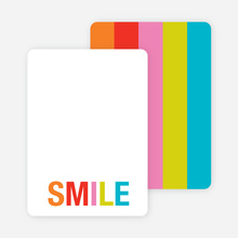 Excitement Series: Smile Note Cards - Tangerine