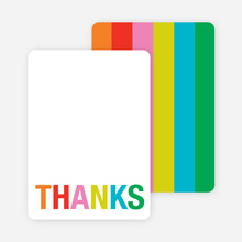 Excitement Series: Thanks Note Cards - Tangerine