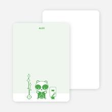 Note Cards: 'Panda Cupcake Birthday' cards. - Shamrock Green