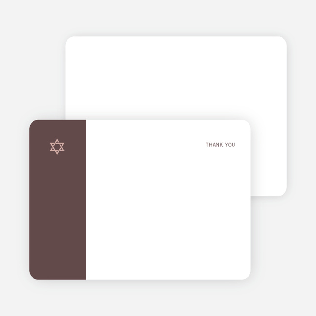Note Cards: 'Simple Essence Star of David' cards. - Sangria