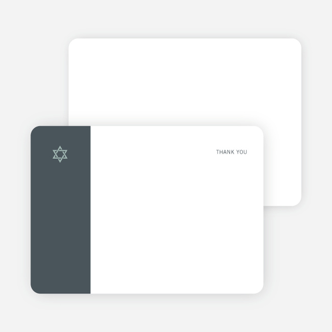 Note Cards: 'Simple Essence Star of David' cards. - Slate Blue