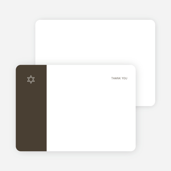 Note Cards: 'Simple Essence Star of David' cards. - Cocoa Brown