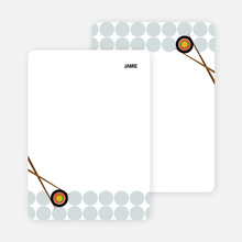 Note Cards: 'Sushi Party Yummm!' cards. - Teal