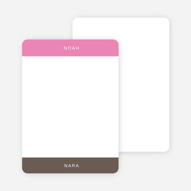 Note Cards: 'Twice Blessed' cards. - Shocking Pink